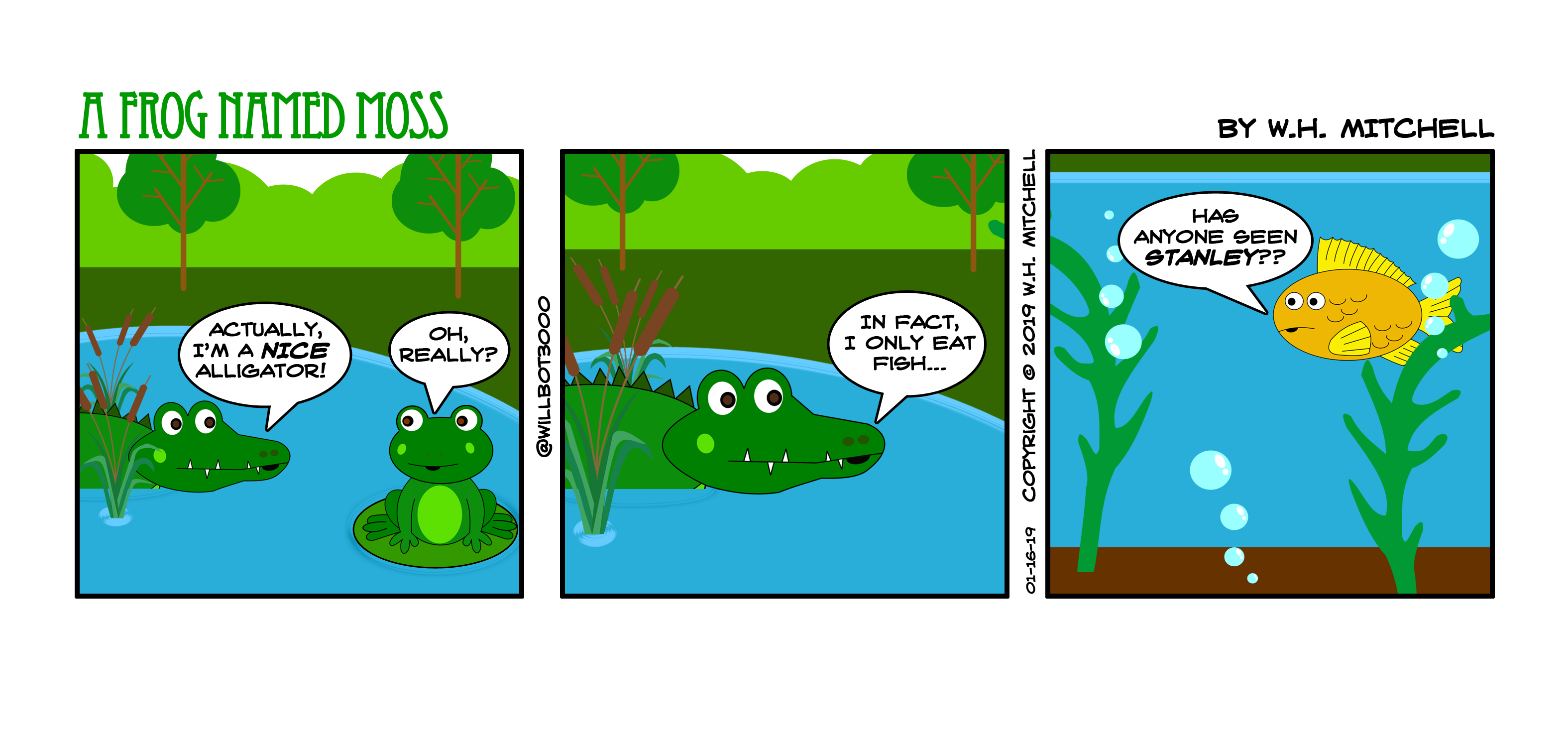 "A Frog Named Moss (""A Fish Called Stanley"") - Comic 1/16/19"