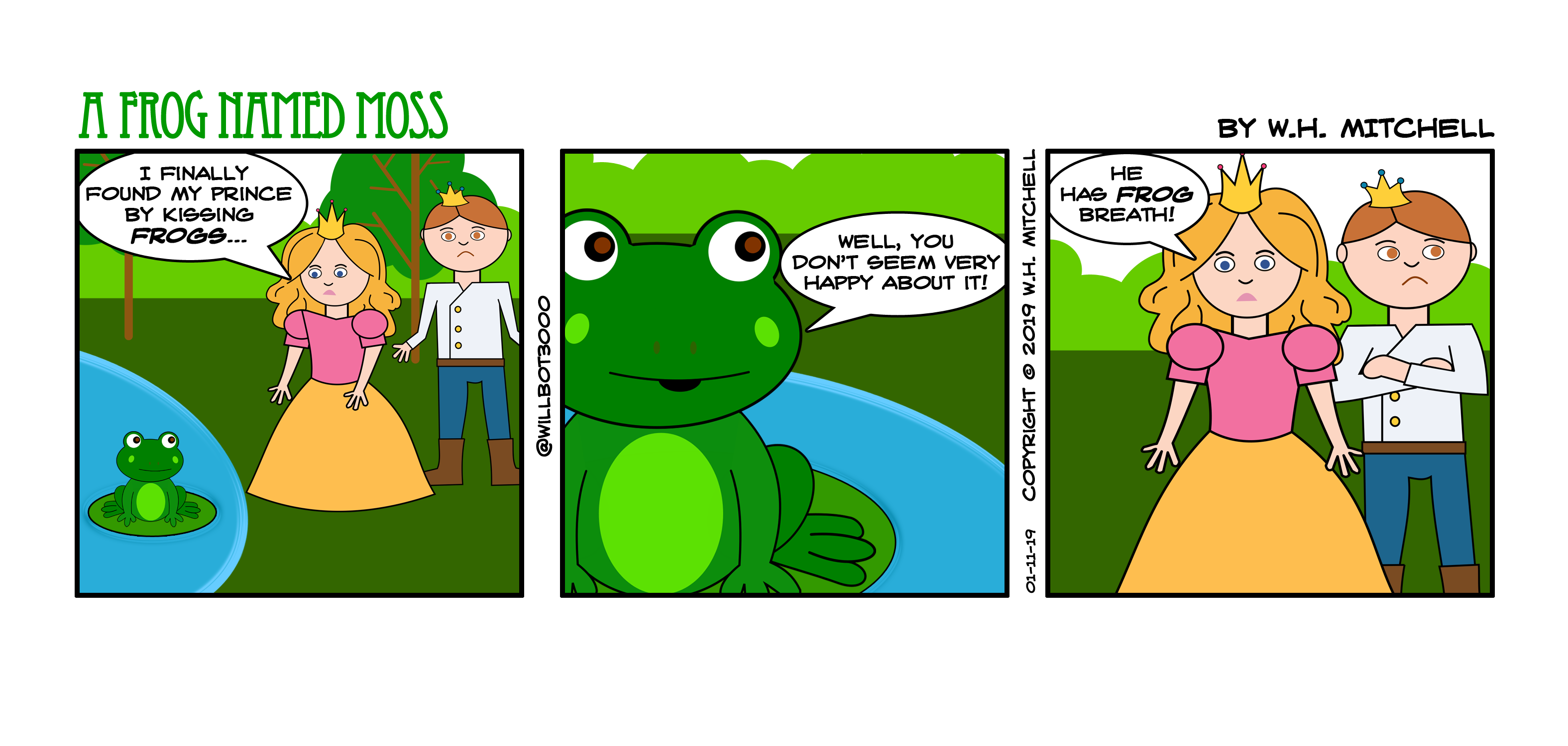 "A Frog Named Moss (""Careful Who You Kiss"") - Comic 1/11/19"