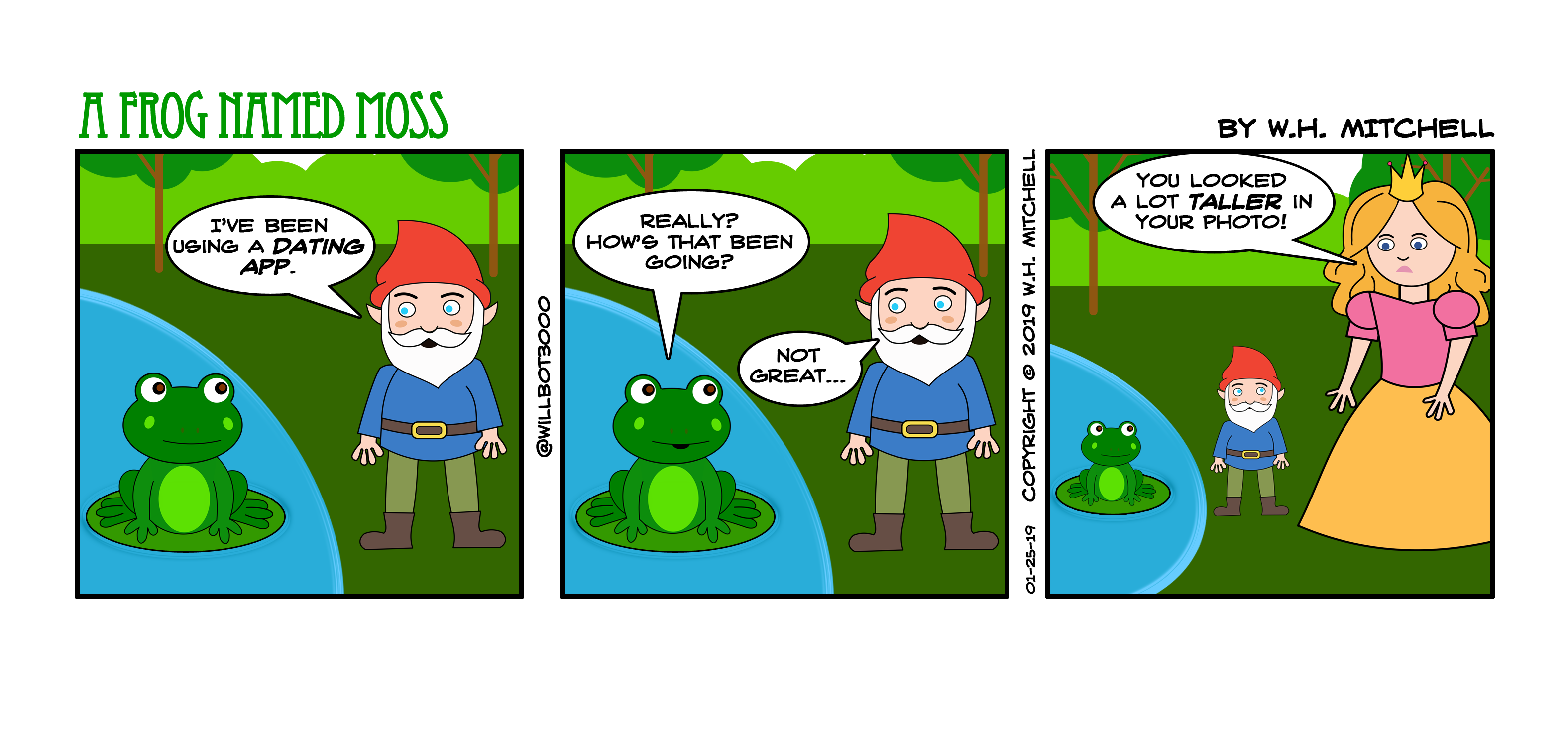 "A Frog Named Moss (""Size Matters"") - Comic 1/25/19"