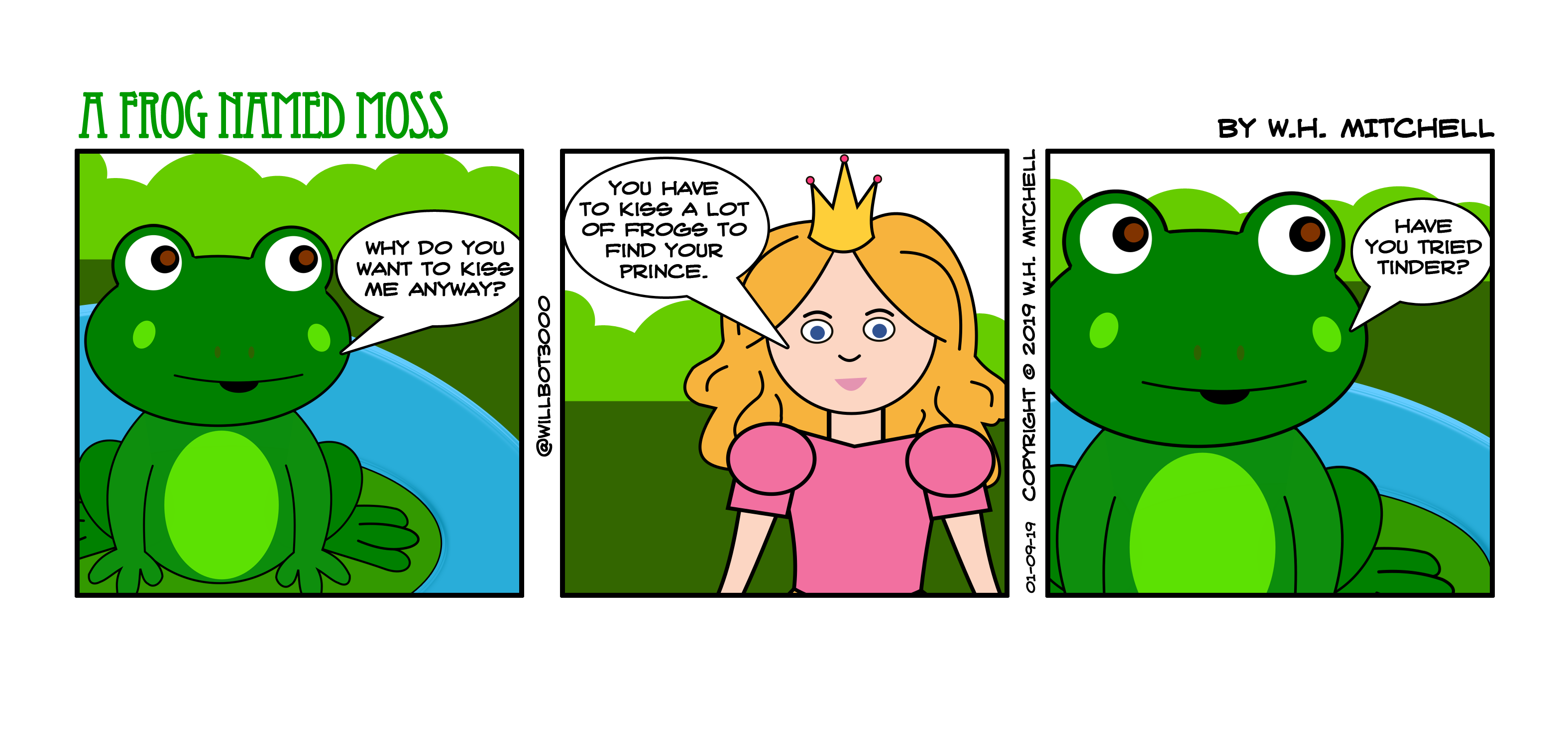 "A Frog Named Moss (""Someday My Prince Will Swipe Left"") - Comic 01/09/19"