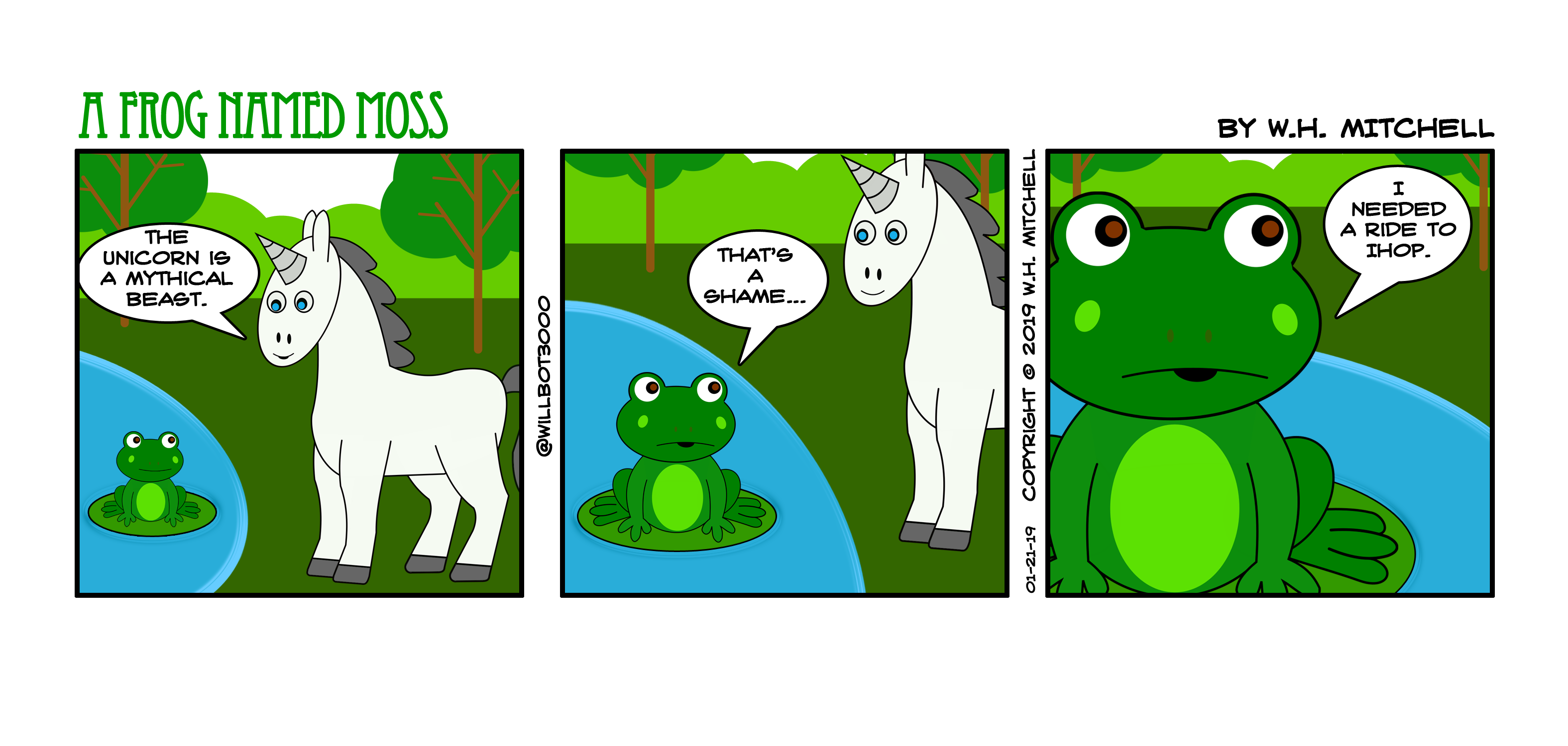 "A Frog Named Moss (""The Thurber Paradox"") - Comic 01/21/19"